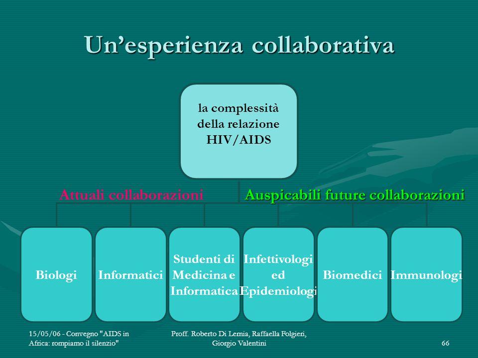 Un'esperienza collaborativa