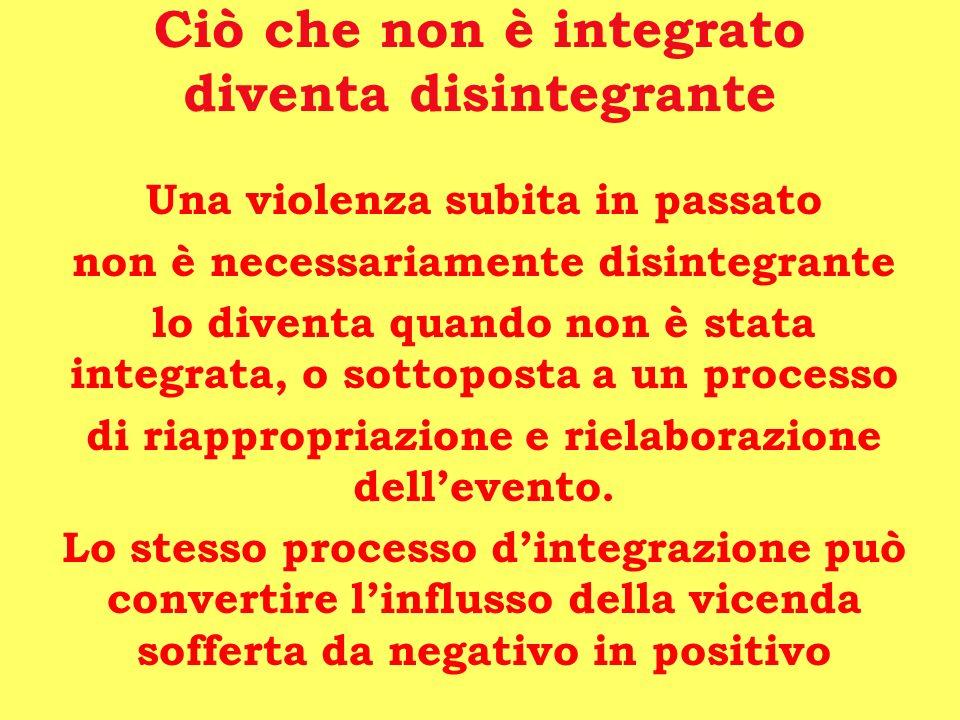 Ciò che non è integrato diventa disintegrante