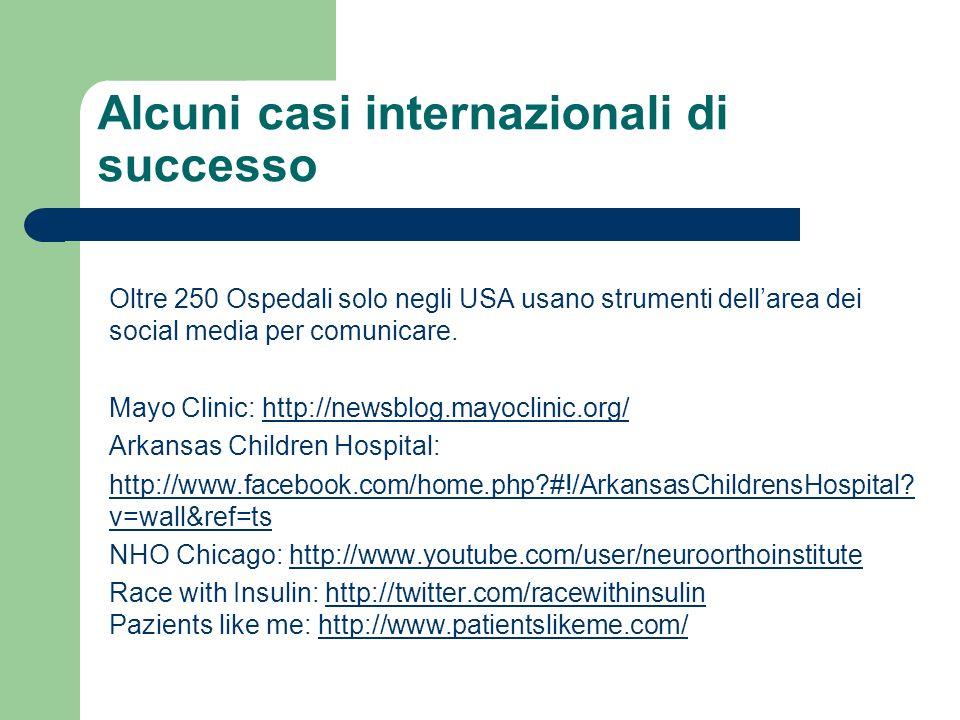 Alcuni casi internazionali di successo