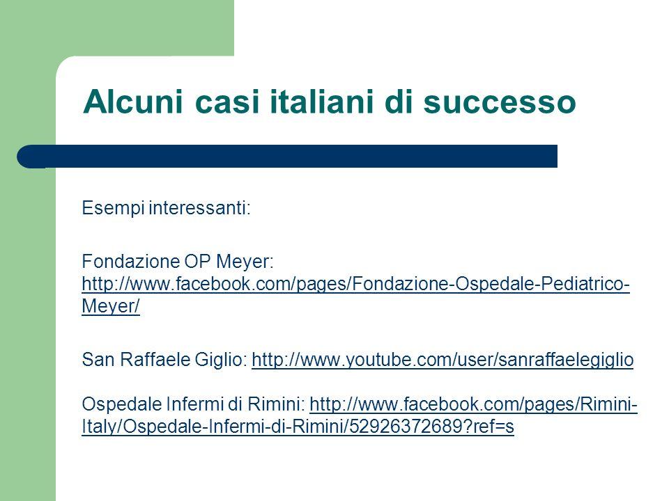 Alcuni casi italiani di successo