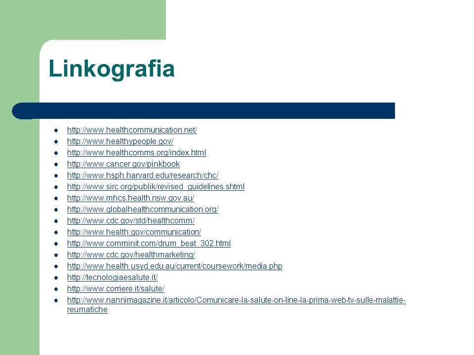 Linkografia http://www.healthcommunication.net/