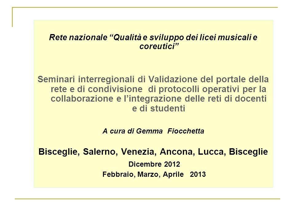 Bisceglie, Salerno, Venezia, Ancona, Lucca, Bisceglie Dicembre 2012