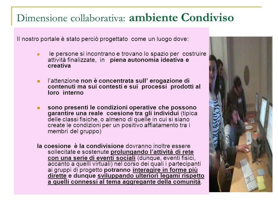 Dimensione collaborativa: ambiente Condiviso