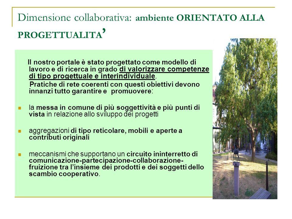 Dimensione collaborativa: ambiente ORIENTATO ALLA PROGETTUALITA'