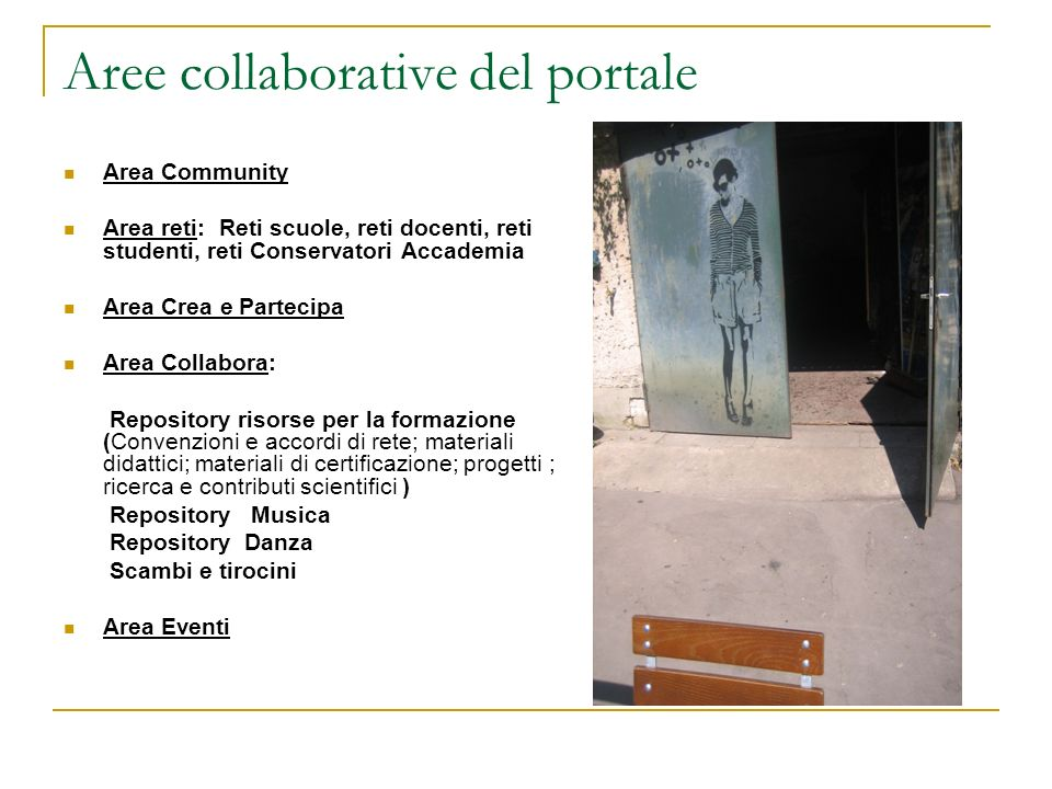 Aree collaborative del portale