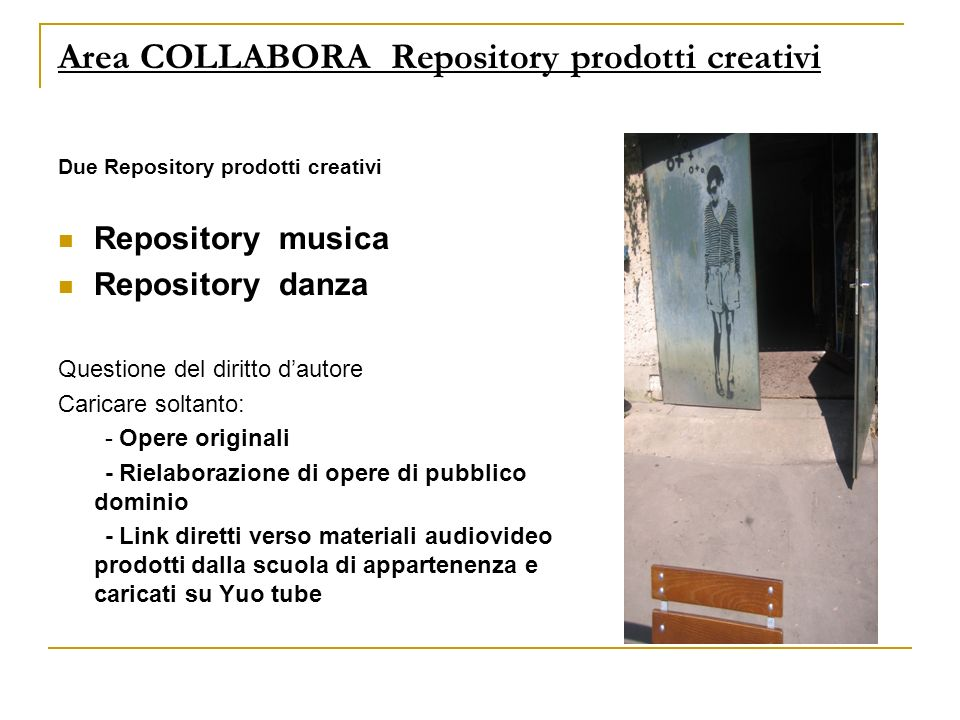 Area COLLABORA Repository prodotti creativi