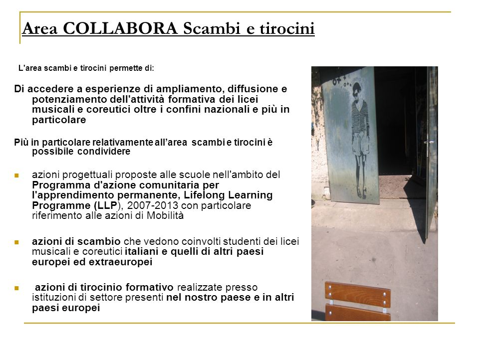 Area COLLABORA Scambi e tirocini