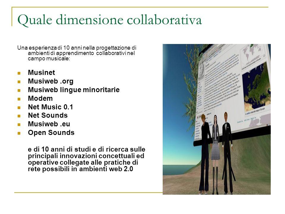 Quale dimensione collaborativa