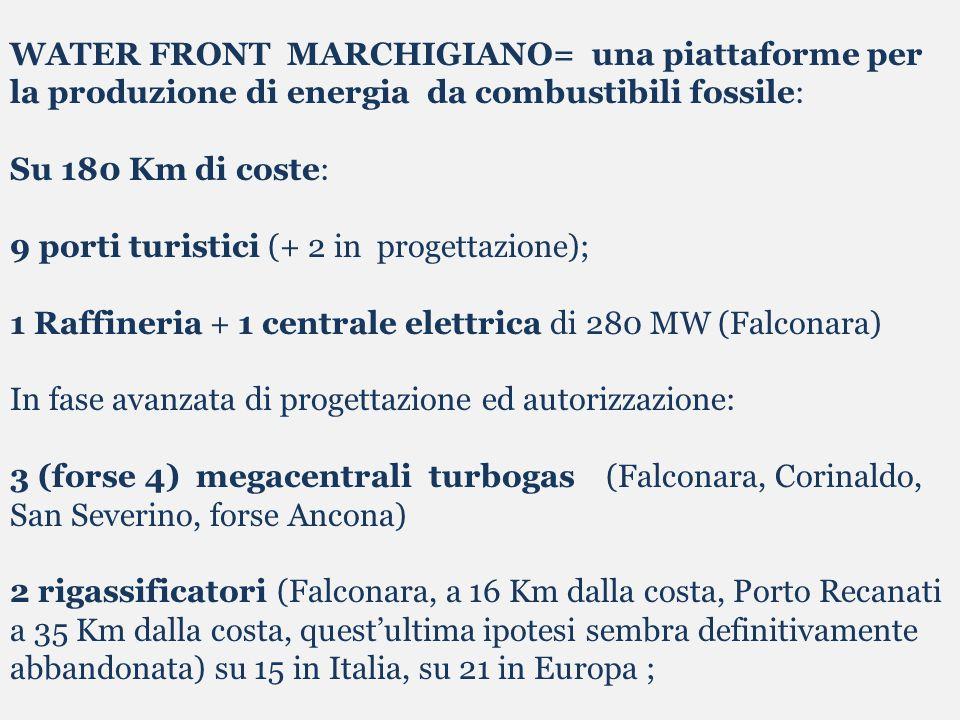 WATER FRONT MARCHIGIANO= una piattaforme per la produzione di energia da combustibili fossile: