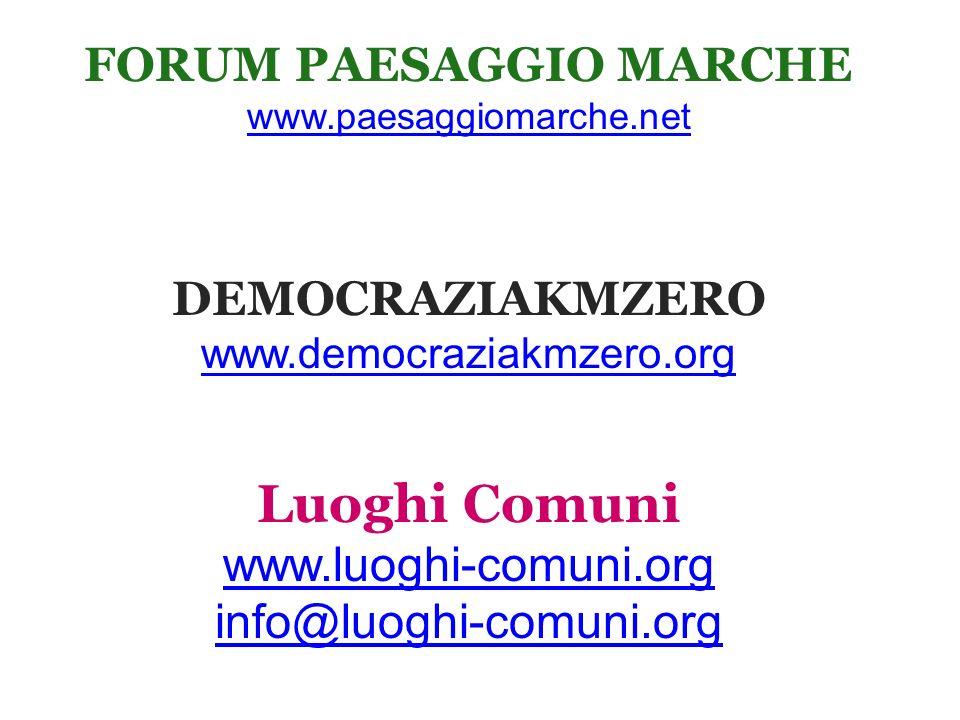 FORUM PAESAGGIO MARCHE