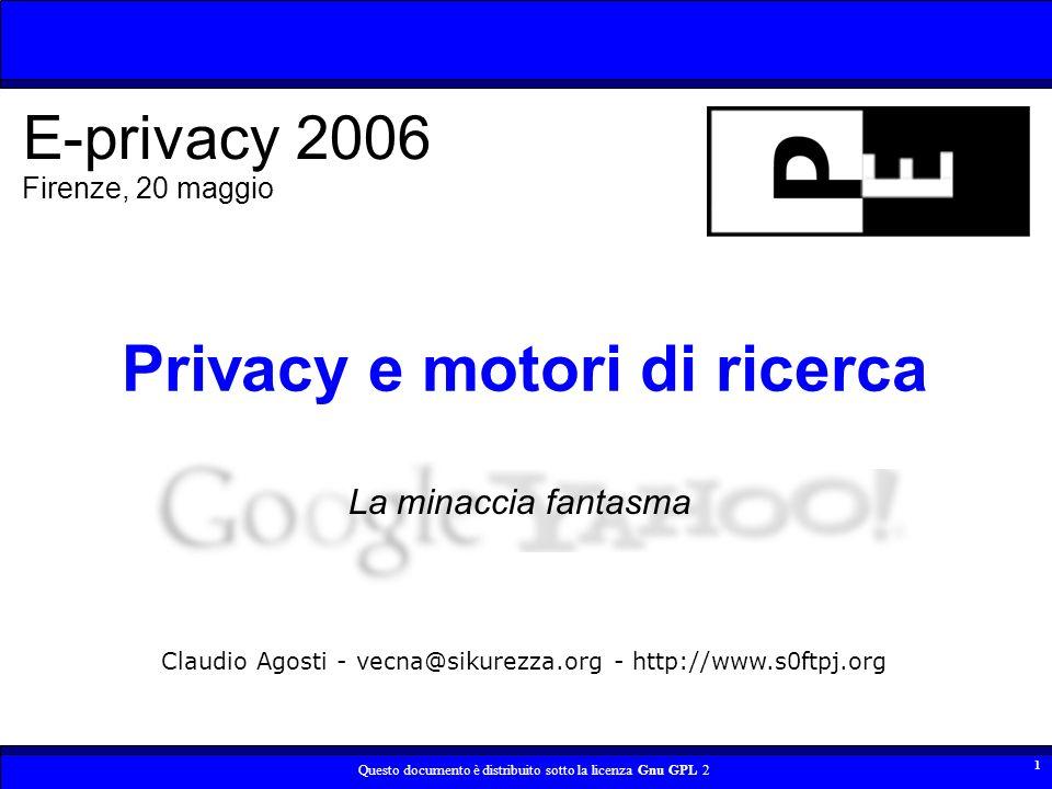 Privacy e motori di ricerca
