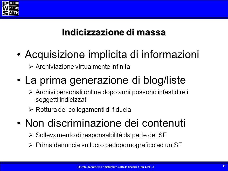 Indicizzazione di massa