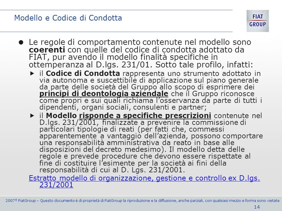 Modello e Codice di Condotta