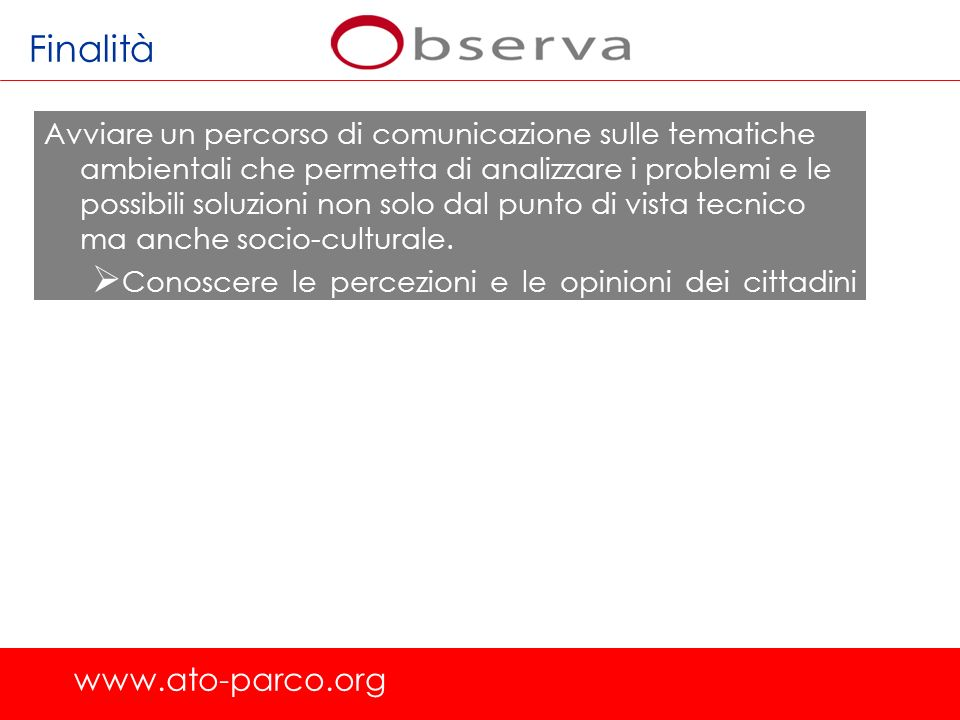 Finalità www.ato-parco.org