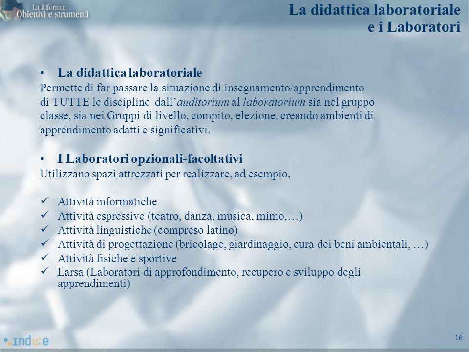 La didattica laboratoriale e i Laboratori