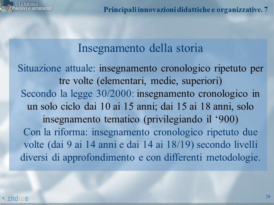 Principali innovazioni didattiche e organizzative. 7