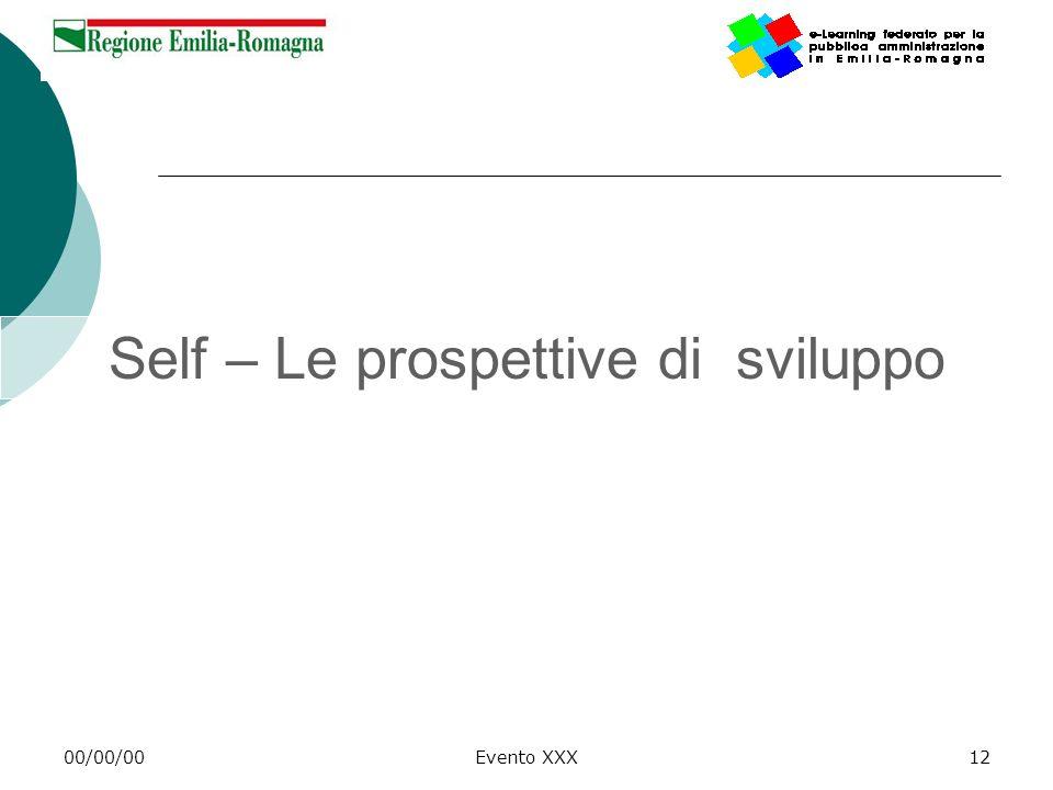Self – Le prospettive di sviluppo