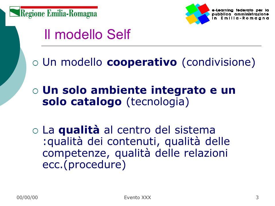 Il modello Self Un modello cooperativo (condivisione)