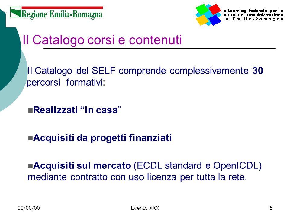 Il Catalogo corsi e contenuti