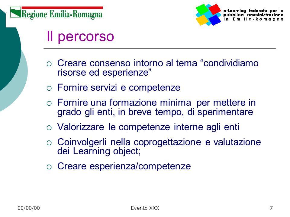 Il percorso Creare consenso intorno al tema condividiamo risorse ed esperienze Fornire servizi e competenze.