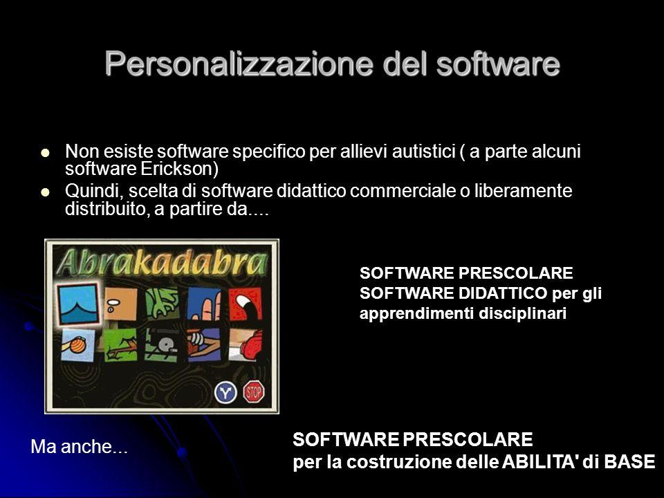 Personalizzazione del software