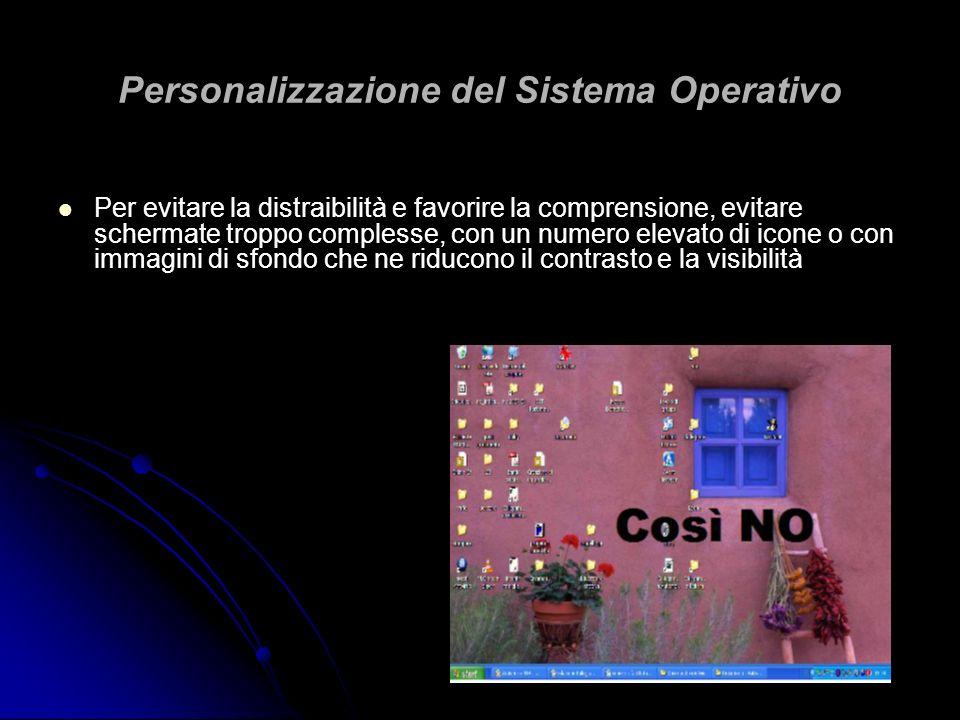 Personalizzazione del Sistema Operativo
