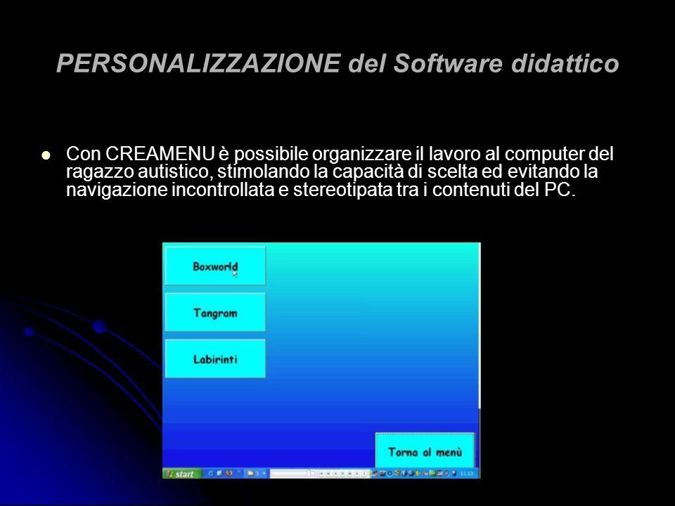 PERSONALIZZAZIONE del Software didattico