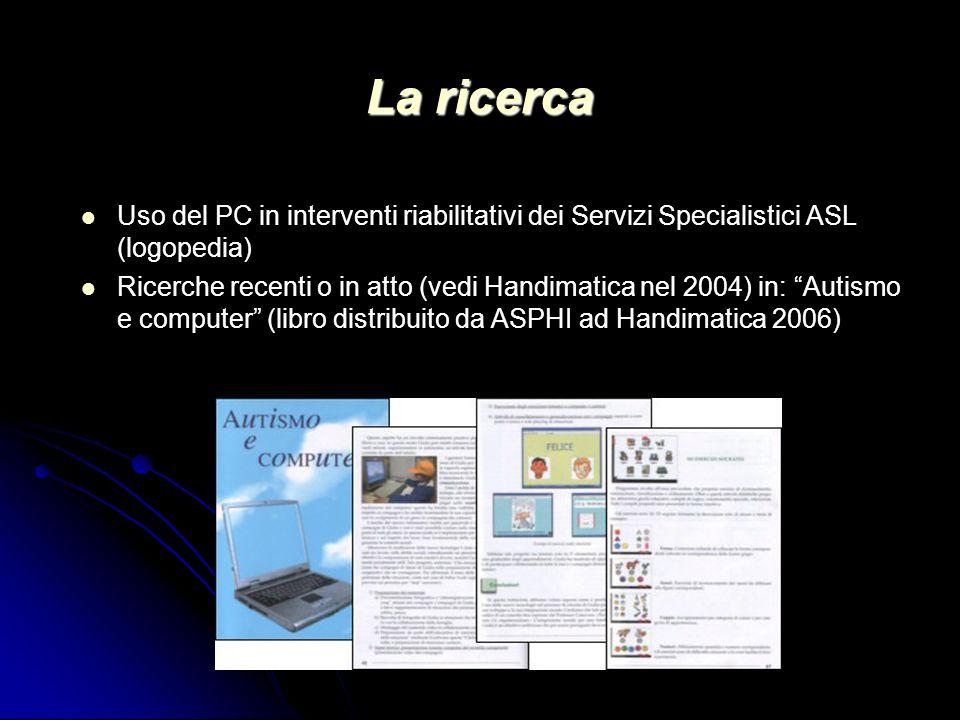 La ricerca Uso del PC in interventi riabilitativi dei Servizi Specialistici ASL (logopedia)