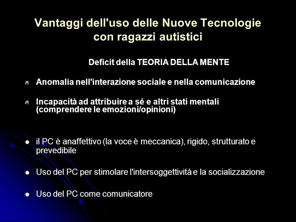 Vantaggi dell uso delle Nuove Tecnologie con ragazzi autistici
