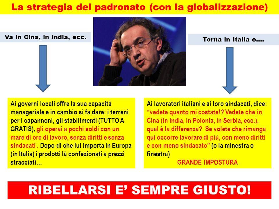 La strategia del padronato (con la globalizzazione)