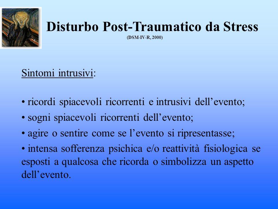 Disturbo Post-Traumatico da Stress