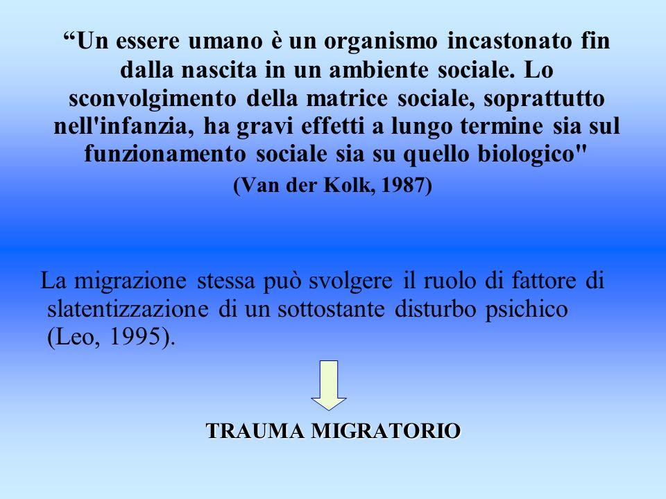 Un essere umano è un organismo incastonato fin dalla nascita in un ambiente sociale. Lo sconvolgimento della matrice sociale, soprattutto nell infanzia, ha gravi effetti a lungo termine sia sul funzionamento sociale sia su quello biologico