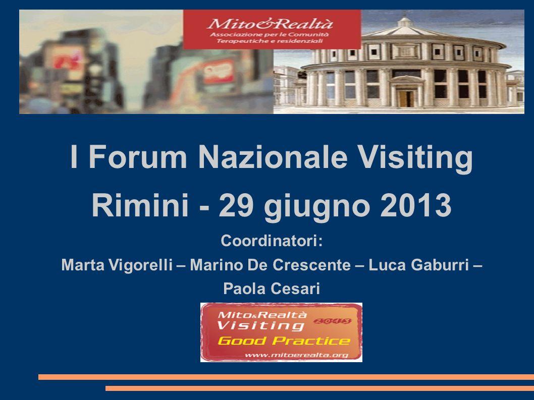I Forum Nazionale Visiting Rimini - 29 giugno 2013