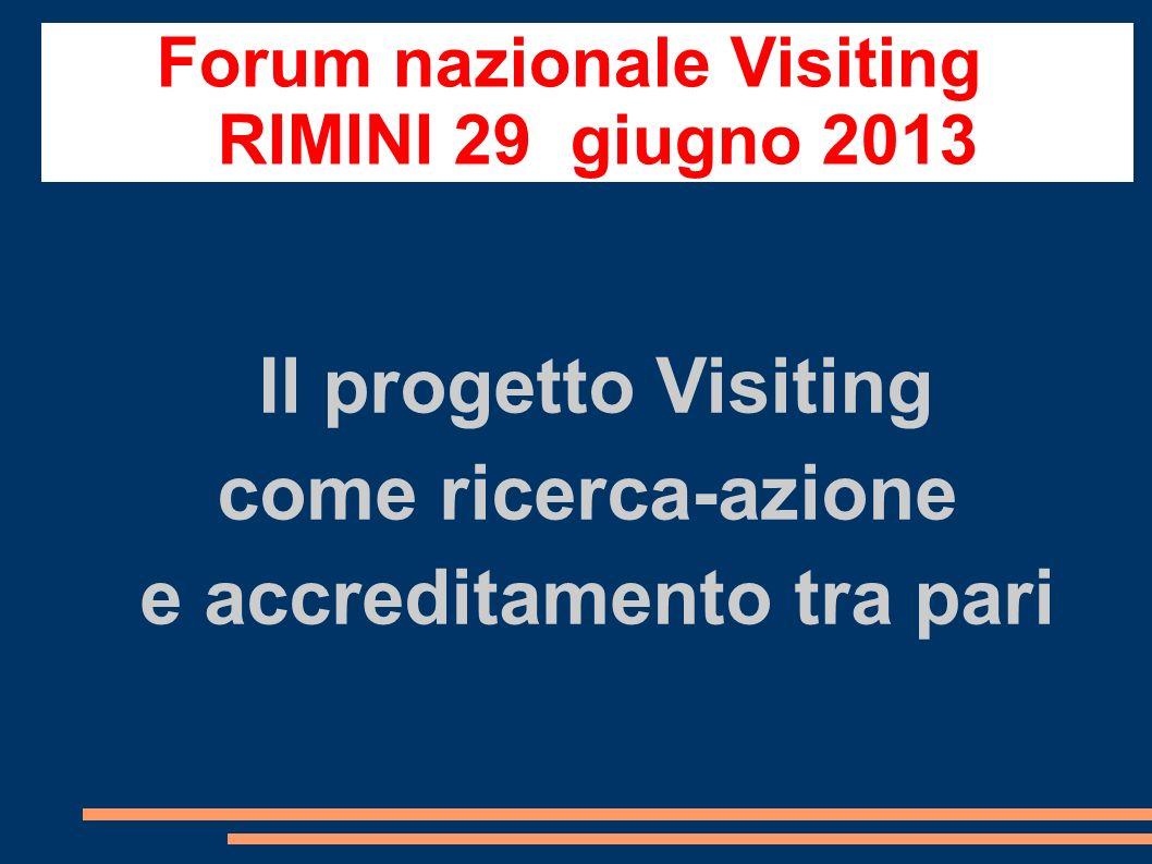 Forum nazionale Visiting e accreditamento tra pari