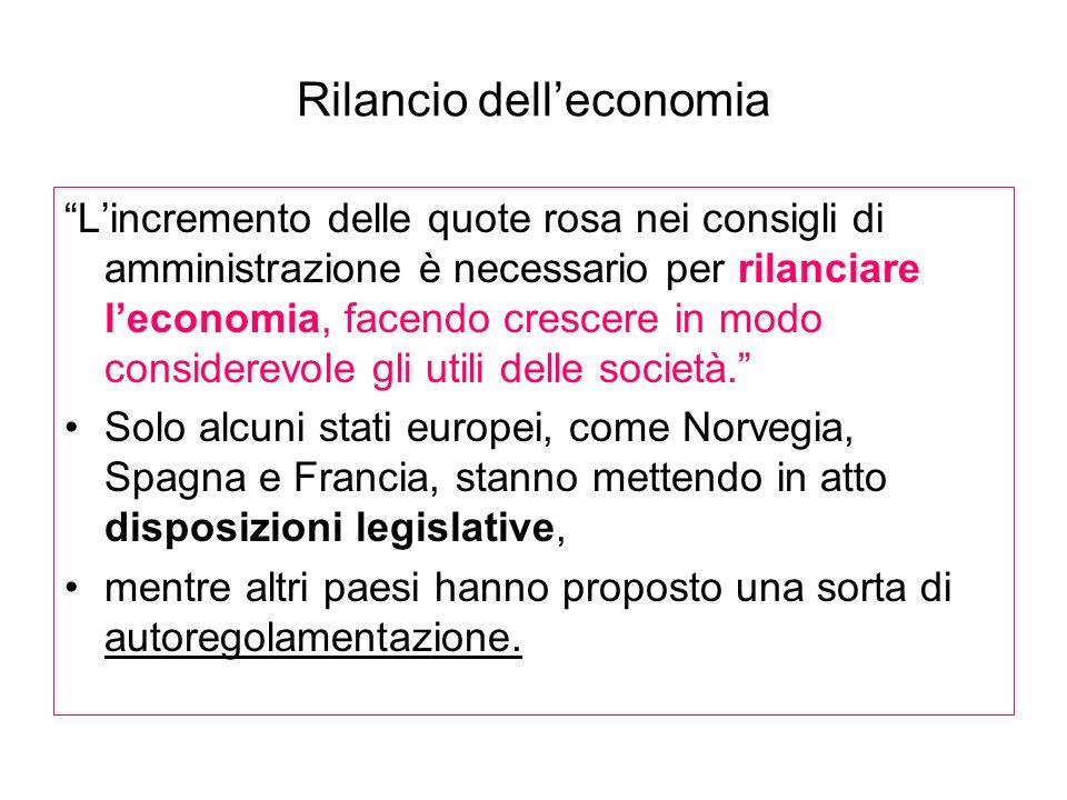 Rilancio dell'economia