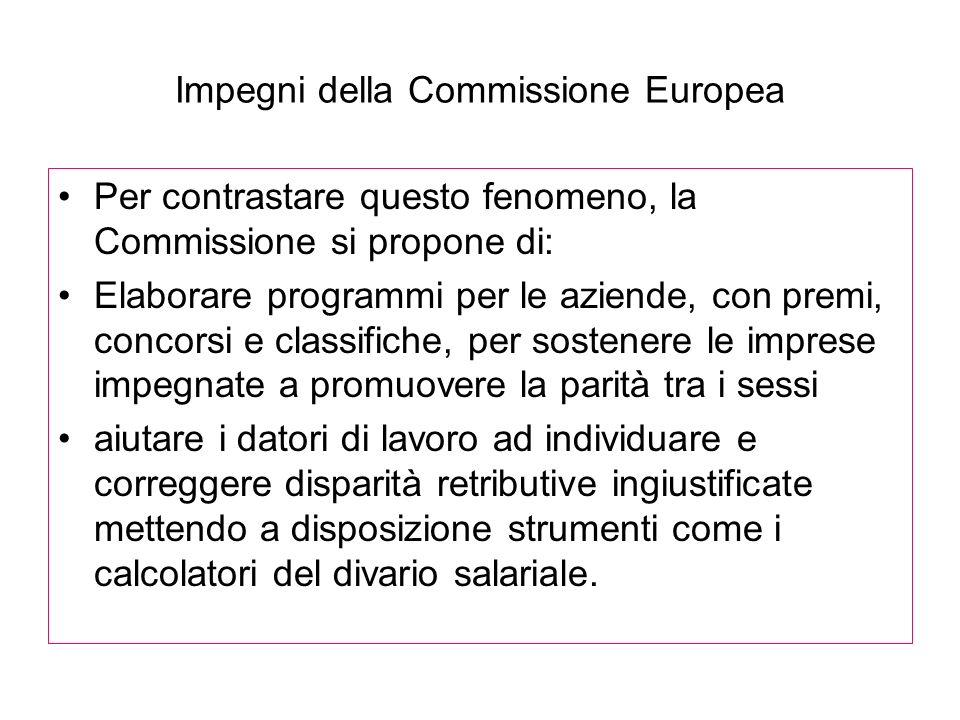 Impegni della Commissione Europea