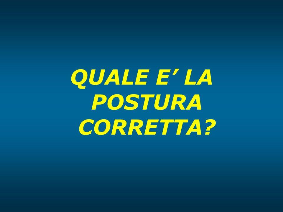 QUALE E' LA POSTURA CORRETTA