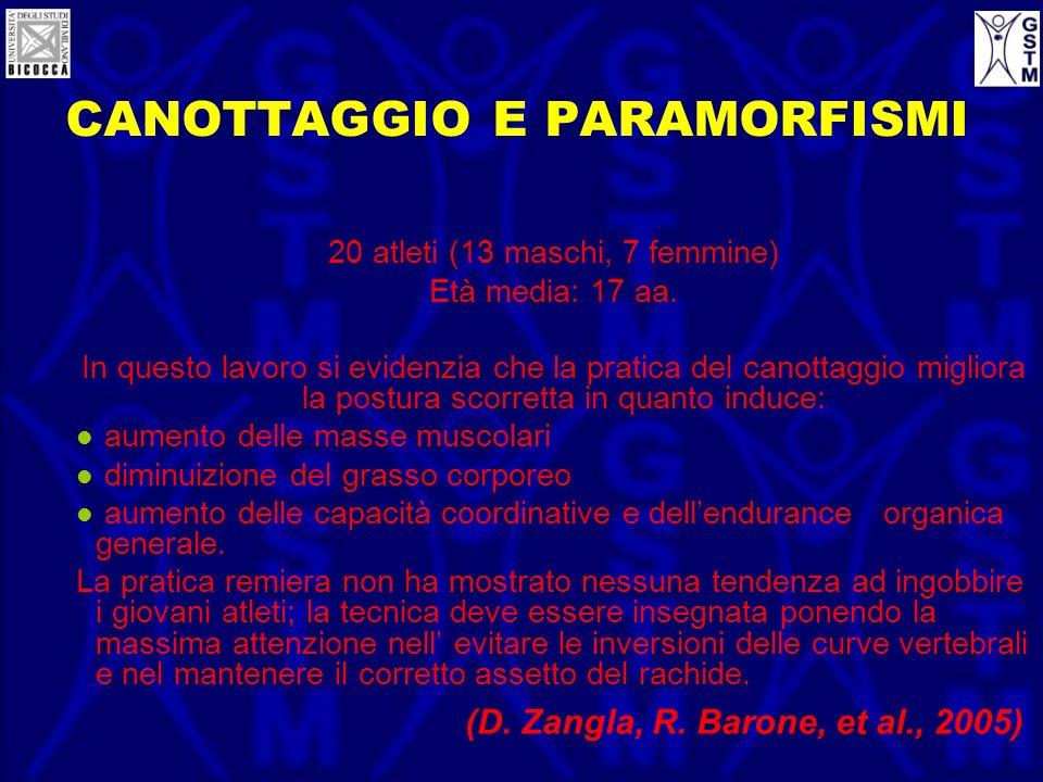CANOTTAGGIO E PARAMORFISMI