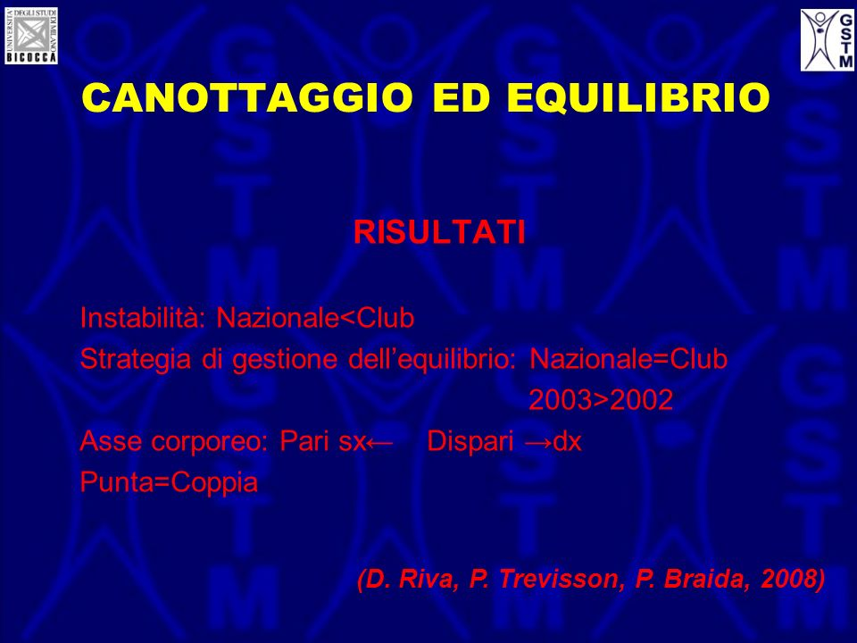 CANOTTAGGIO ED EQUILIBRIO