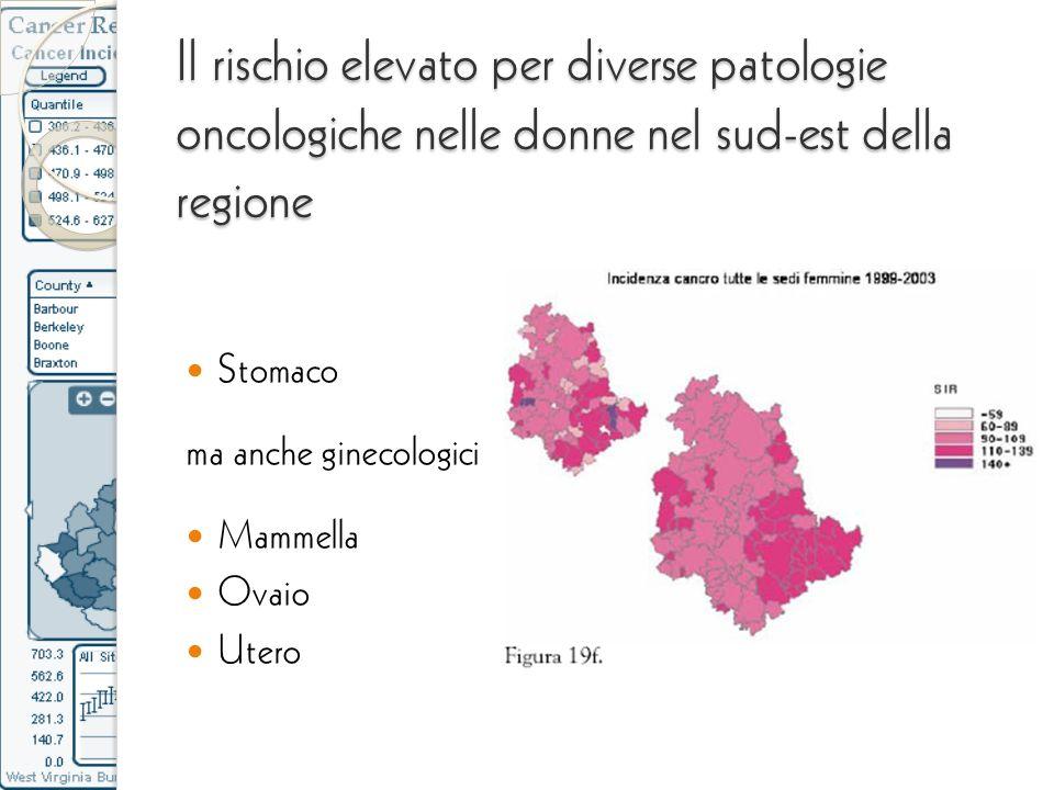 Il rischio elevato per diverse patologie oncologiche nelle donne nel sud-est della regione