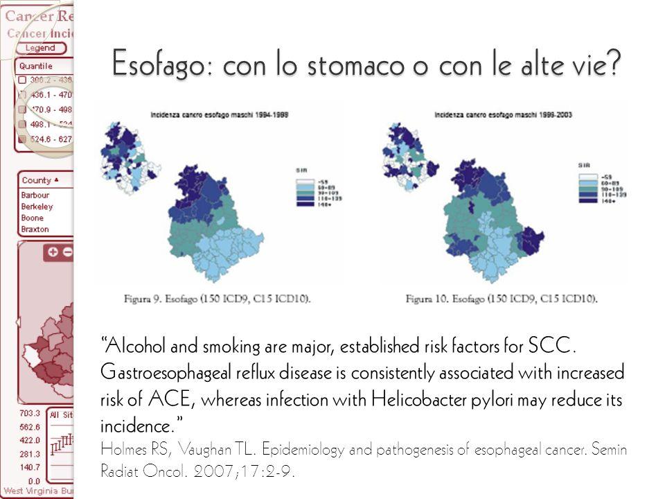 Esofago: con lo stomaco o con le alte vie