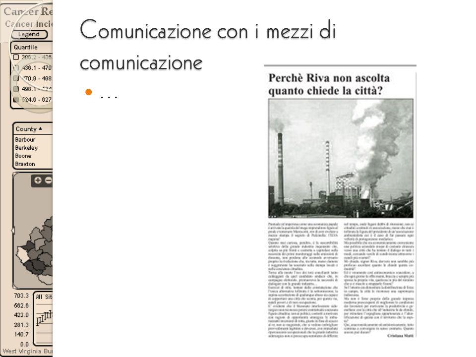 Comunicazione con i mezzi di comunicazione