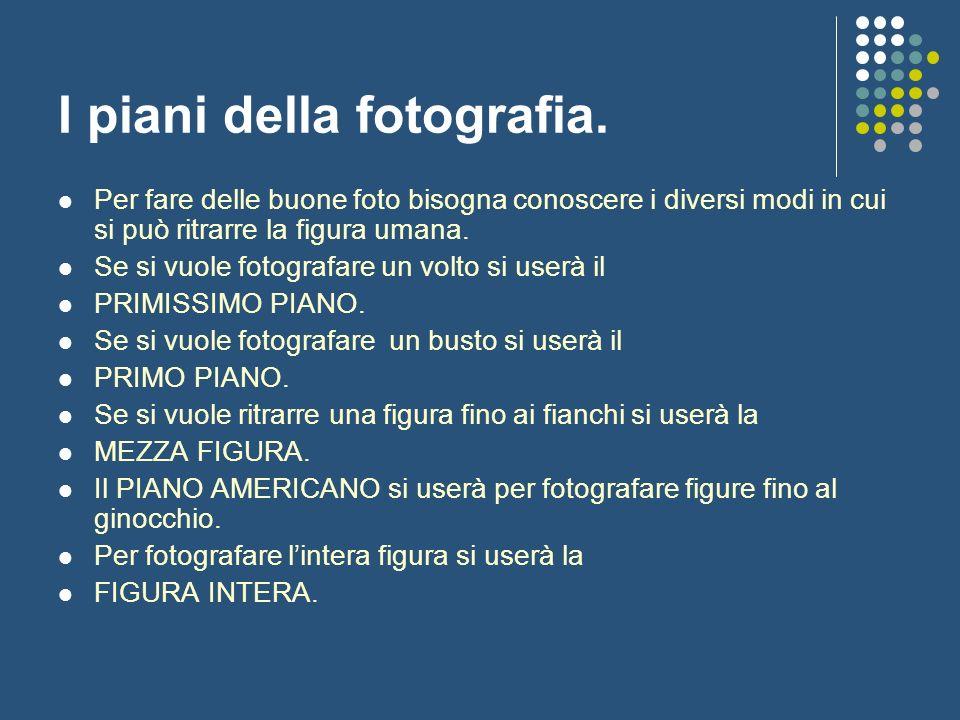 I piani della fotografia.