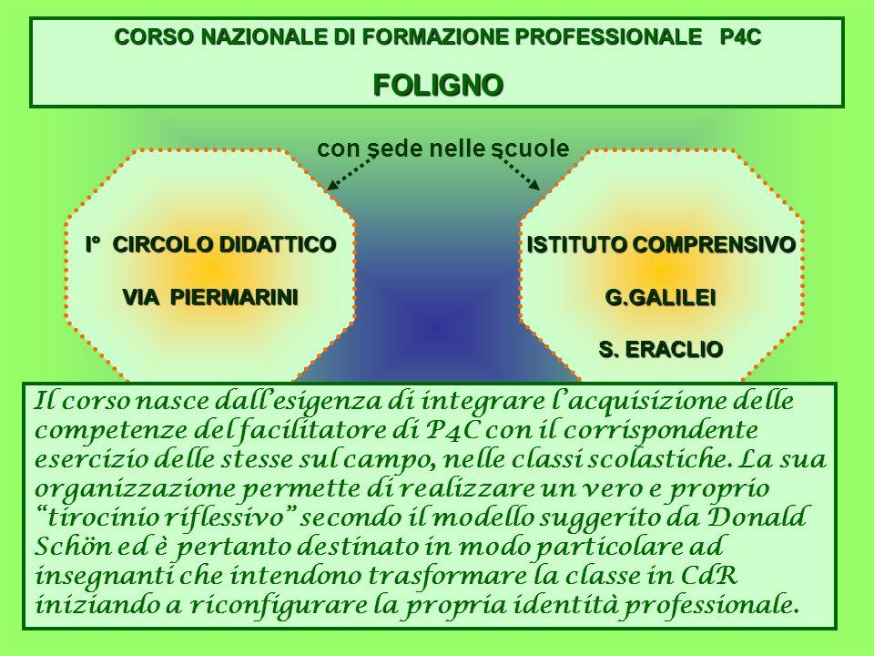 CORSO NAZIONALE DI FORMAZIONE PROFESSIONALE P4C