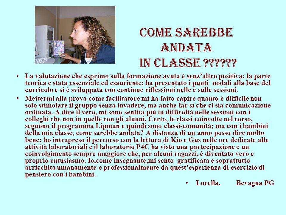 COME SAREBBE ANDATA IN CLASSE