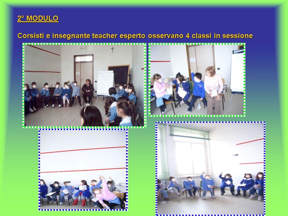 2° MODULO Corsisti e insegnante teacher esperto osservano 4 classi in sessione