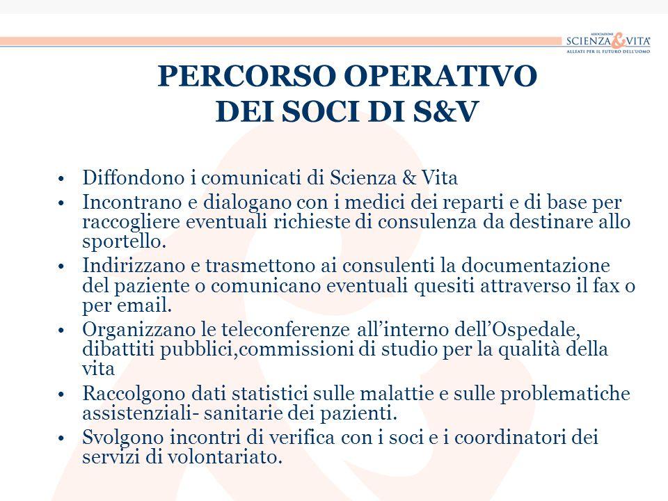 PERCORSO OPERATIVO DEI SOCI DI S&V