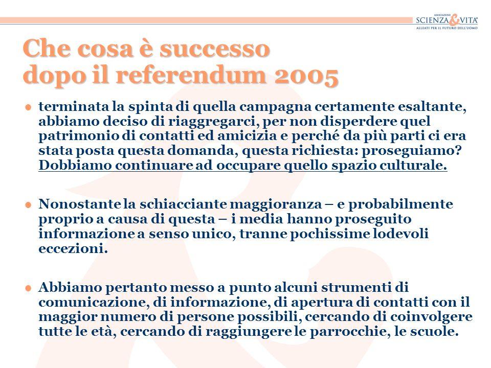 Che cosa è successo dopo il referendum 2005