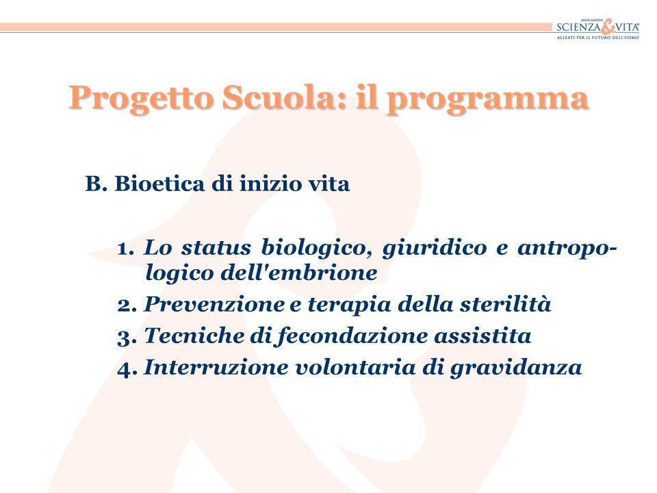 Progetto Scuola: il programma