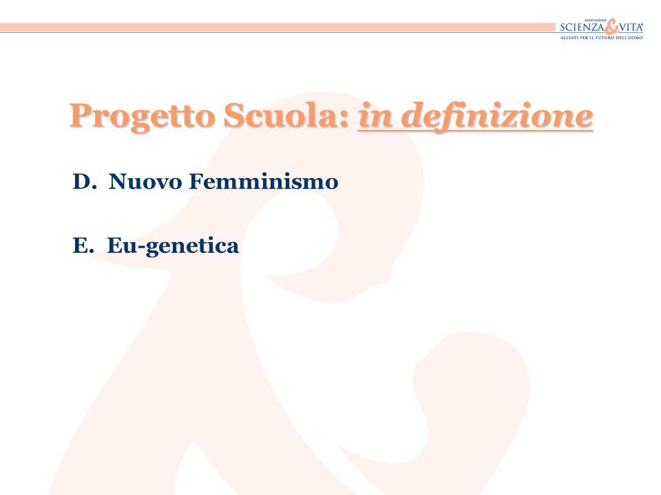 Progetto Scuola: in definizione